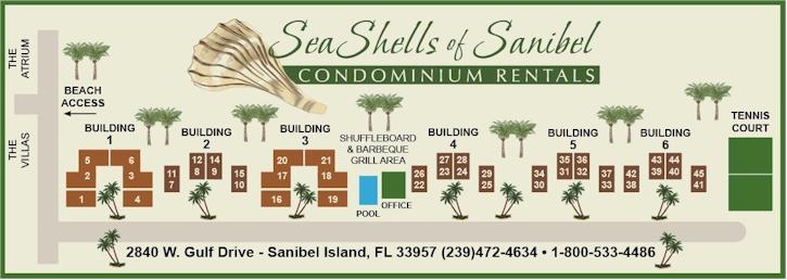 Sea Shells Of Sanibel Complex Map